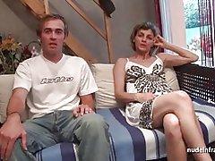 Amateur französischen Paar beim Sex vor unserer Kamera