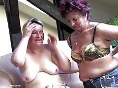 Reife Sex-Party mit Mütter und junge