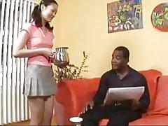 Evelyn Lin Ruft einen Geschmack von schwarzen Mann & s Sperma